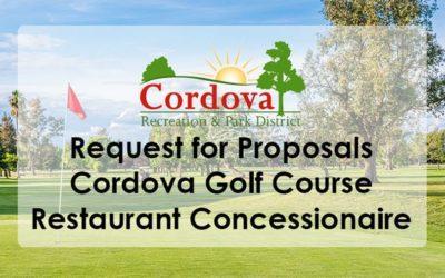 Request for proposals Cordova Golf Course Restaurant