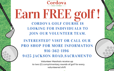 Earn FREE golf! Volunteer Marshals needed